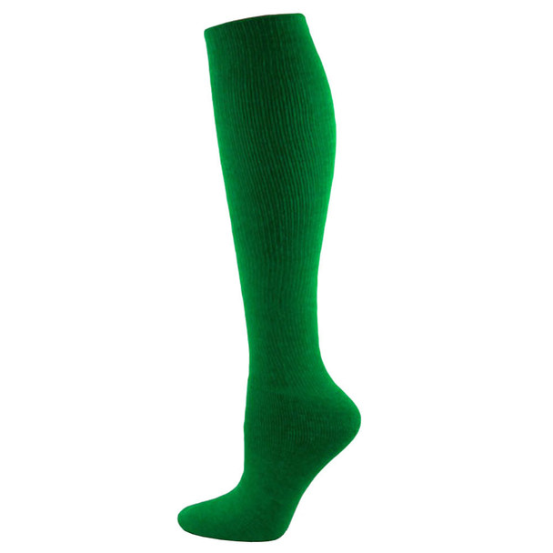 Kelly Green Solid Acrylic Knee High Soccer Socks