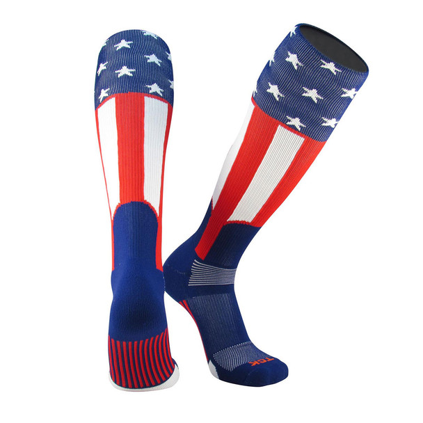 Uncle Sam Over The Calf Sport Socks