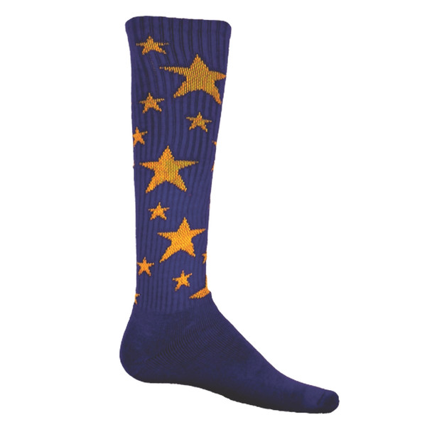 Purple with Gold Stars Soccer Socks