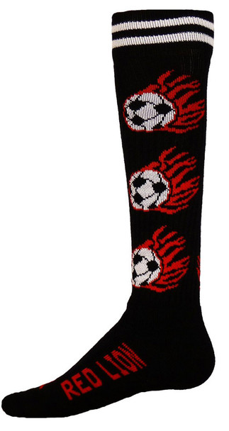 Flaming Soccer Balls Soccer Socks