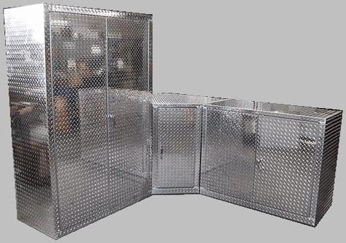3 Piece Diamond Plate Corner Garage Cabinet Set ...