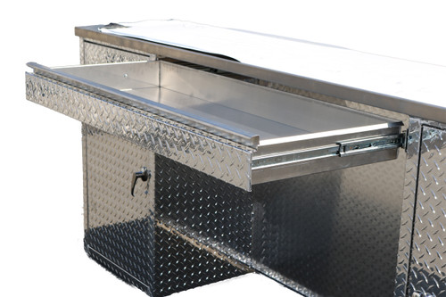 Diamond Plate Counter Desk
