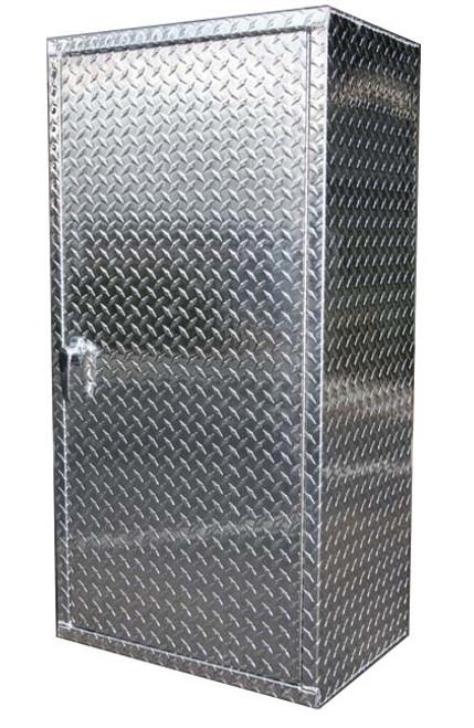6u0027 X 2u0027 Diamond Plate Garage Locker