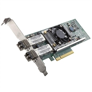 Broadcom 57810 NIC using FluxLight.com SFP-10G-SR optical transceivers and fiber patch cables.