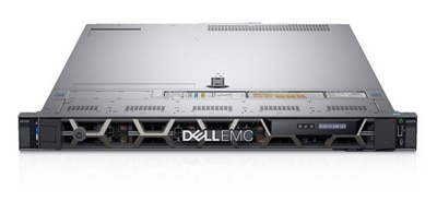 Dell PowerEdge R640 switch using FluxLight optical transceivers and fiber jumper cables.