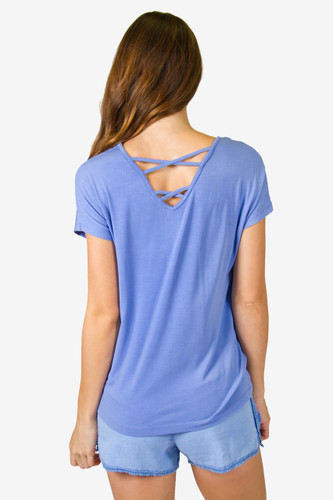 PJ Salvage Strappy Tee - Denim