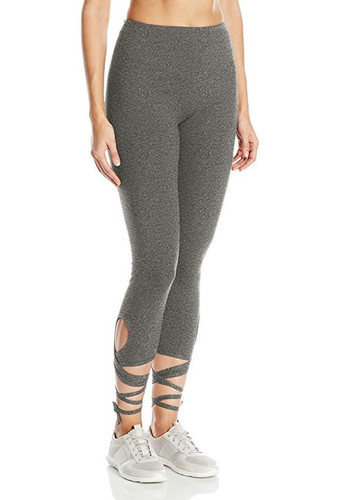 Lysse - Wrap Ankle Legging - Salt & Pepper