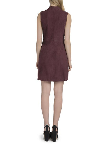 Lysse Suede Dress - Currant