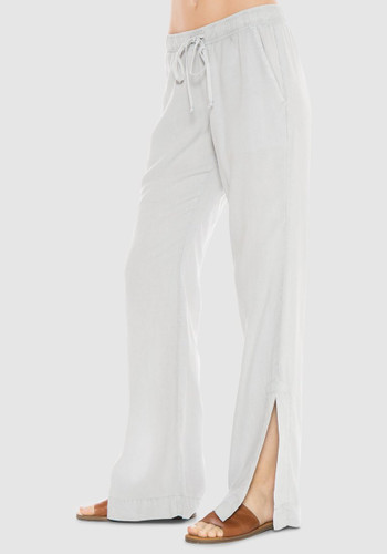 Bella Dahl Side Split Wide Leg Pant -Riverstone