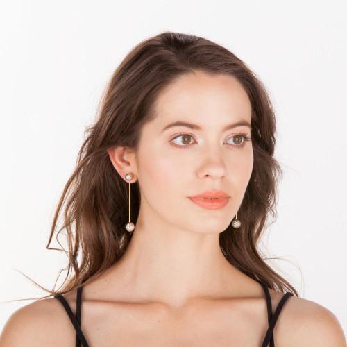 Shelia Fajl Bosnia 2 Earrings - Gold