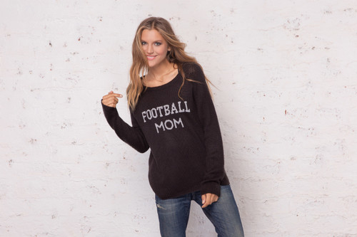 Wooden Ships Football Mom Crewneck Sweater