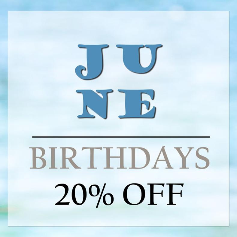 June Birthday Discount