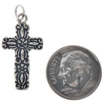 Sterling Silver Cross Charm Bracelet Pendant Necklace 1