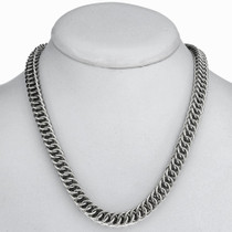 Interlocking Sterling Necklace 24327