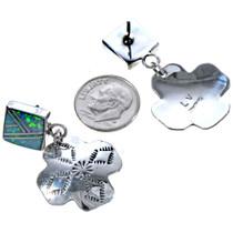 Inlaid Sterling Post Dangle Earrings 15114