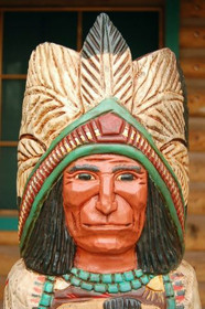 Cigar Store Indian Frank Gallagher 4 Footer.