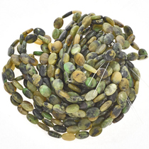 10mm by 13mm Australian Jade Beads 16 inch Strand