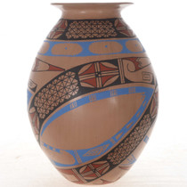 Polychrome Indian Pottery 25028
