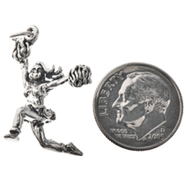 Sterling Silver Cheerleader Charm Bracelet Charm Pendant Necklace 1