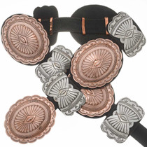 Copper Silver Southwest Concho Belt 20018