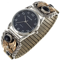 Gold Onyx Watch 24087