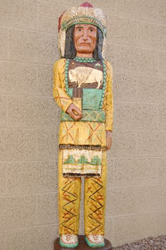 Cigar Store Wooden Indian Chief 4 feet tall