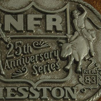 National Finals Rodeo Buckle Anniversary Collectible