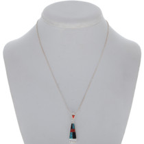Sterling Silver Triangle Inlaid Pendanty