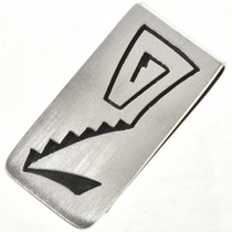 Overlaid Silver Money Clip 10139