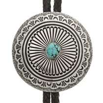 Turquoise Silver Bolo Tie 24091