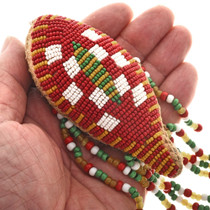 Native American Protection Amulet Seed Beaded Buckskin 30439