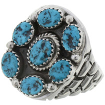Turquoise Cluster Mens Ring 27004