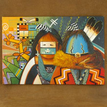 Navajo Yei Dancer Sacred Plant Giclée Print by JC Black