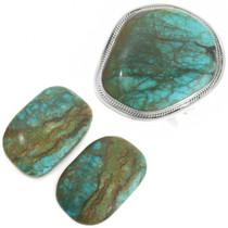 Large Turquoise Sterling Silver Bracelet 22614