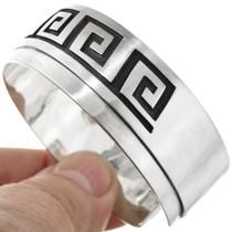 Navajo Overlay Silver Cuff Bracelet 26376
