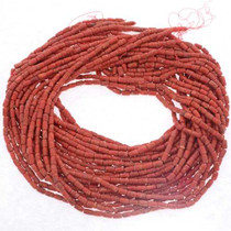 Coral Barrel Beads 25679