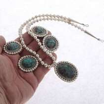 Silver Turquoise Necklace 17434