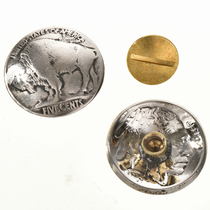 Buffalo Nickel Button Concho 22811