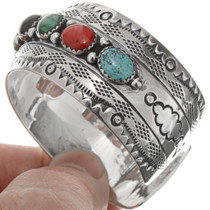 Hammered Silver Cuff Bracelet 25975