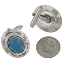 Silver Lapis Cuff Links 15909