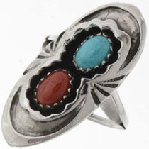 Turquoise Coral Ring 27263