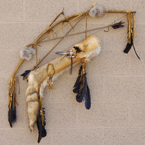 Red Fox Fur Quiver Bow and Arrows