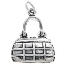Sterling Silver Purse Charm Bracelet Pendant Necklace