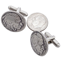 Navajo Nickel Cuff Links 19617