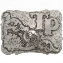 Custom Silver Gold Southwest Buckle25735
