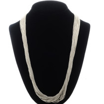 50 Strand Liquid Silver Necklace