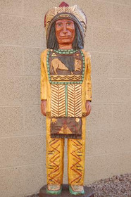 4 Foot Cigar Store Indian with Breastplate by Frank Gallagher