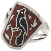 Inlaid Coral Ring 27081