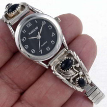 Onyx Ladies Sterling Watch 23012