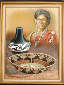Navajo Art & Heritage Original Oil Painting by Guy Nez
